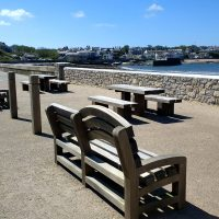Picnic benches at far car park