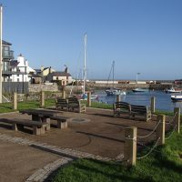 Picnic area overlooking the harbour